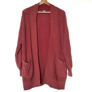 AEO Aerie | Oversize Open Front Fade Wash Cardigan